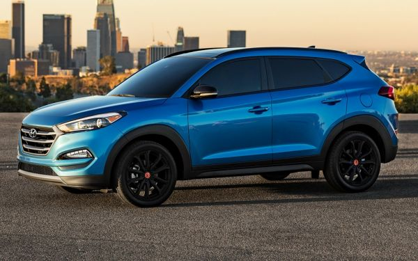 Hyundai Tucson 2017-2018, вид сбоку слева