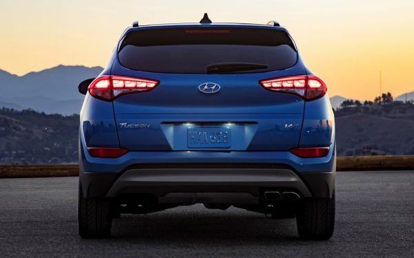 Hyundai Tucson 2017-2018, вид сзади