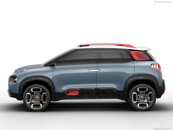 Citroen C-Aircross Concept 2017, вид сбоку слева
