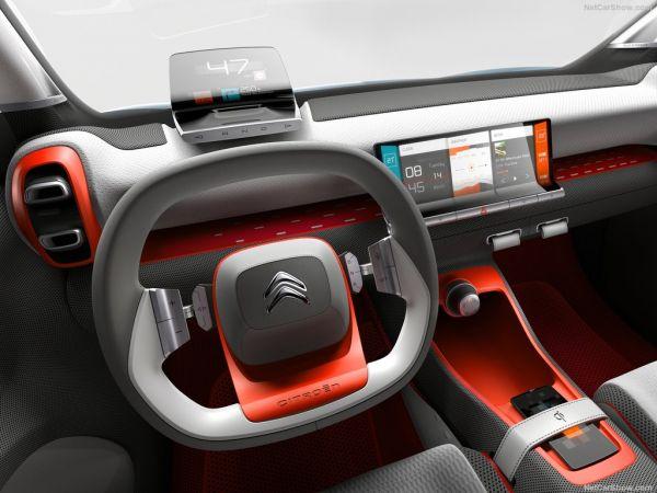 Citroen C-Aircross Concept 2017, руль и панель управления