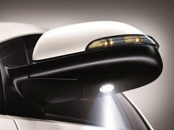 Боковые зеркала с подсветкой дорожного покрытия