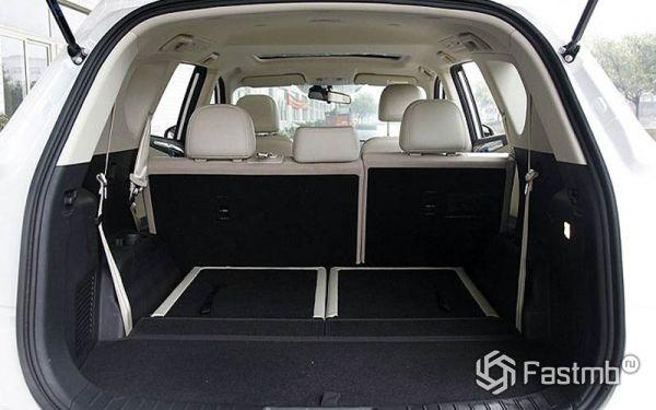 Багажник со сложенным третим рядом сидений