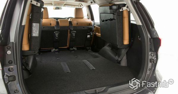 Toyota Fortuner 2017, багажник