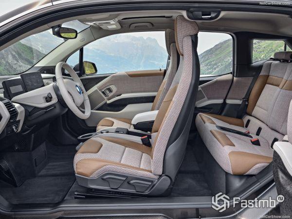BMW i3 2017-2018, интерьер и сидения