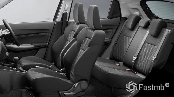 Suzuki Swift 2017, сидения