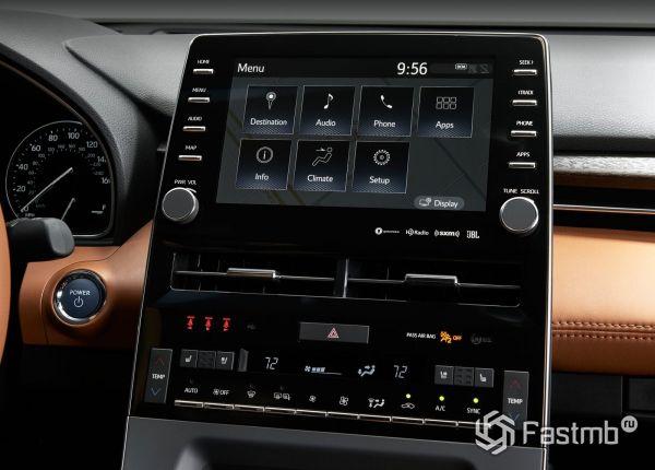 Центральная панель Toyota Avalon 2019