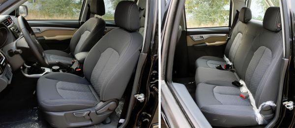 Передние и задние сиденья пикапа