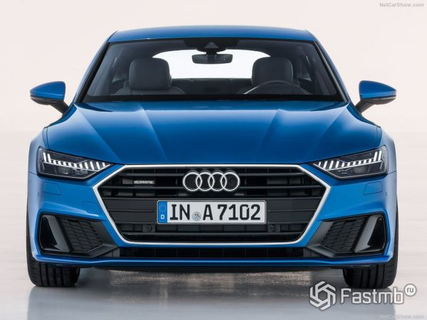 Audi A7 Sportback 2018, вид спереди