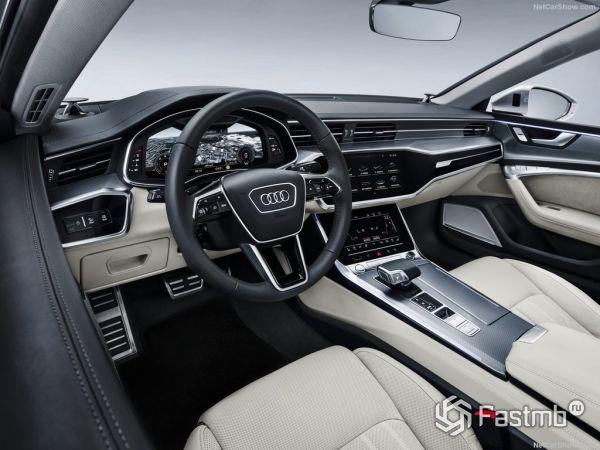 Ауди А7 Спортбэк 2018 года, руль и панель управления