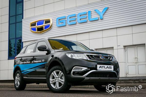 Новый Geely Atlas 2018