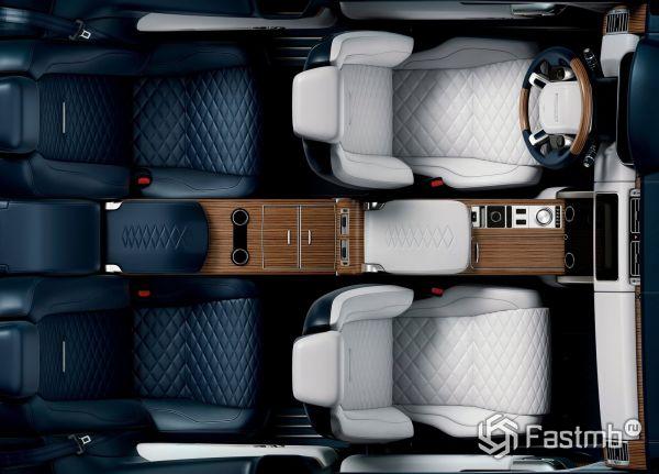Салон нового Range Rover SV Coupe 2019, вид сверху