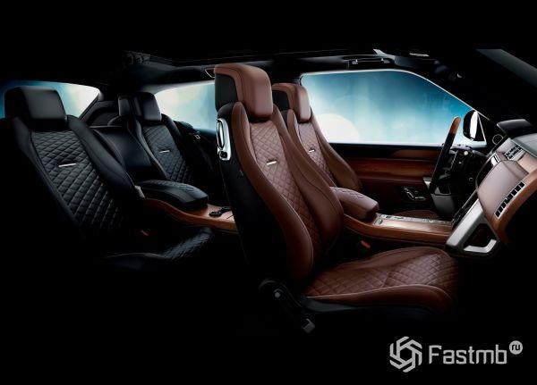 Двухцветный интерьер Range Rover SC Coupe 2019