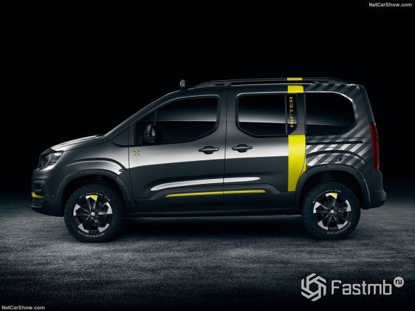 Peugeot Rifter 4x4 Concept 2018, вид сбоку слева