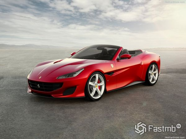Ferrari Portofino 2018, вид спереди и сбоку слева