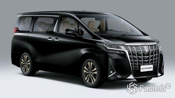 Рестайлинг японского минивэна Toyota Alphard 2019