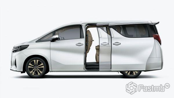 Toyota Alphard 2018, вид сбоку