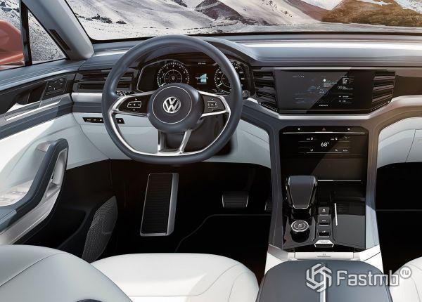 Интерьер нового Volkswagen Atlas Cross Sport 2019