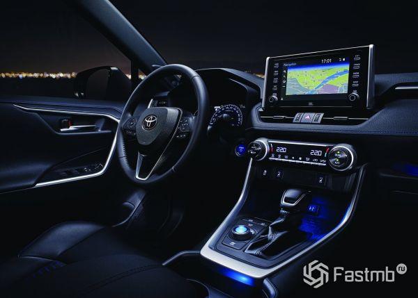 Подсветка передней панели Toyota RAV4 2019