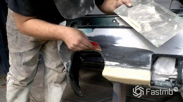 Правка кузова автомобиля своими руками видео