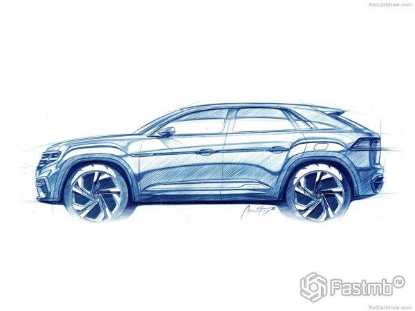 Volkswagen Atlas Cross Sport Concept 2018: фото, цена и характеристики
