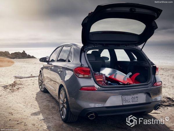 Hyundai Elantra GT 2018, багажник