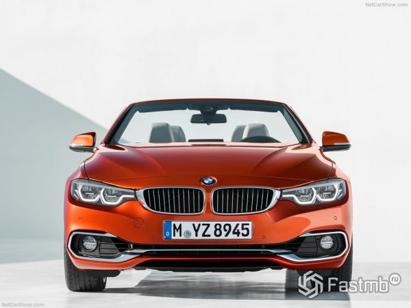 BMW 4-Series Convertible 2018, вид спереди
