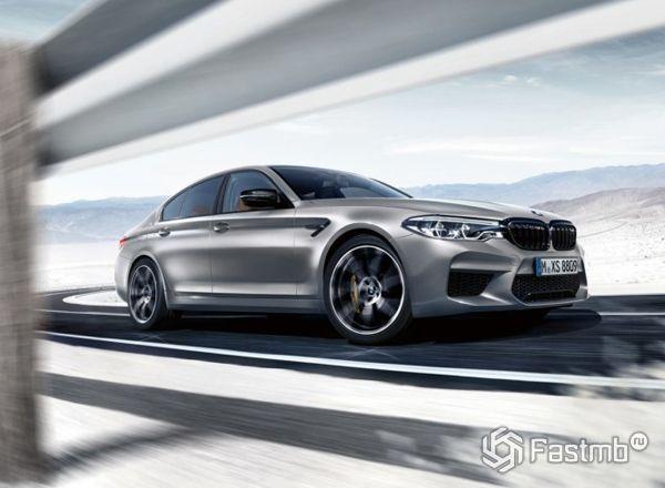 Новый седан BMW M5 Competition 2018