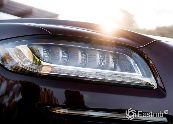 Передняя оптика и LED ходовые огни