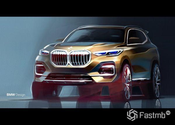 Дизайнераская заготовка кроссовера BMW X5