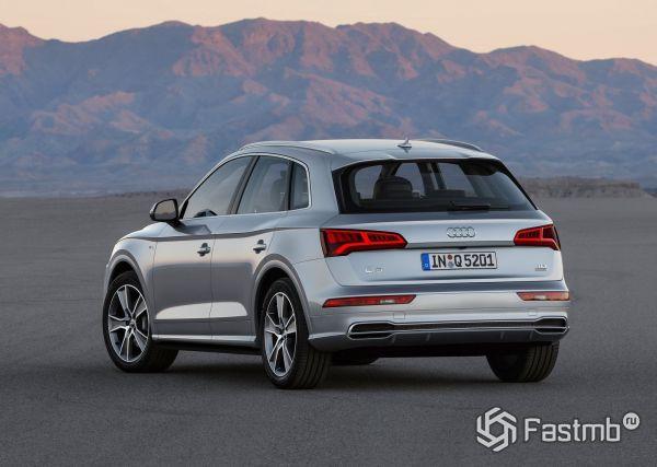 Audi Q5 2017, вид сзади