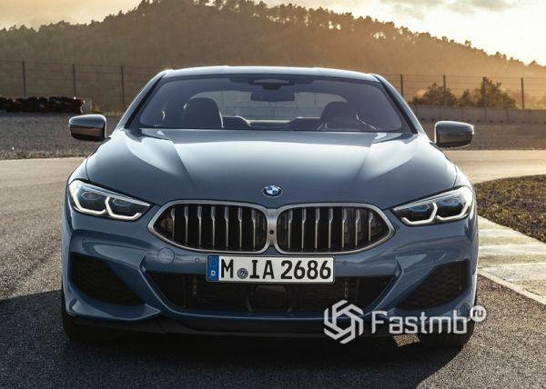 Светодиодная оптика и новая решетка радиатора BMW 8-Series Coupe 2019