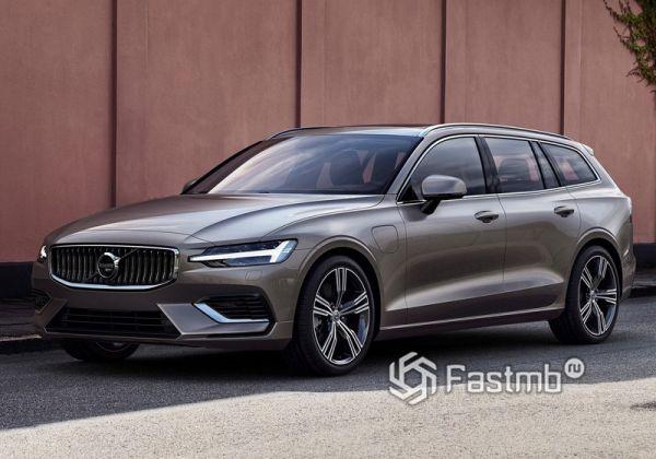 Новый гибридный Volvo V60 2019