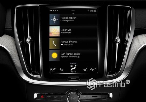 Дисплей мультимедийки Volvo V60 2019