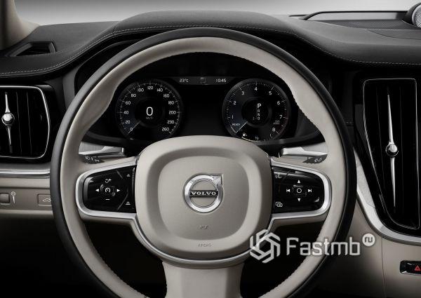 Двухцентное рулевое колесо седана