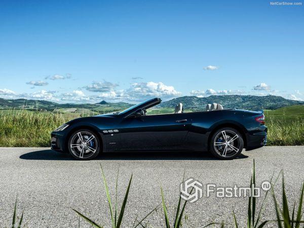 Maserati GranCabrio 2018, вид сбоку слева