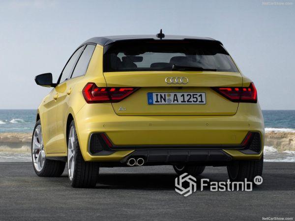 Audi A1 Sportback 2019, вид сзади
