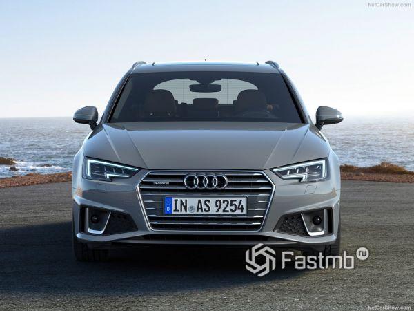 Audi A4 Avant 2019, вид спереди