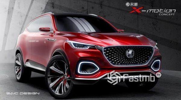 Изначальный дизайн концепта MG HS 2019