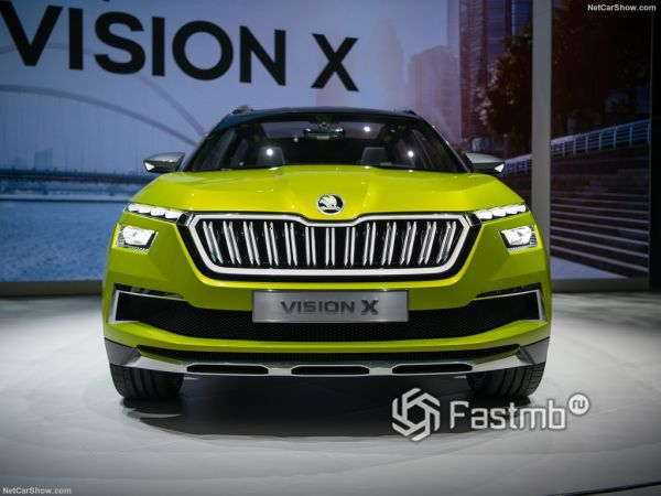 Skoda Vision X Concept 2019, вид спереди