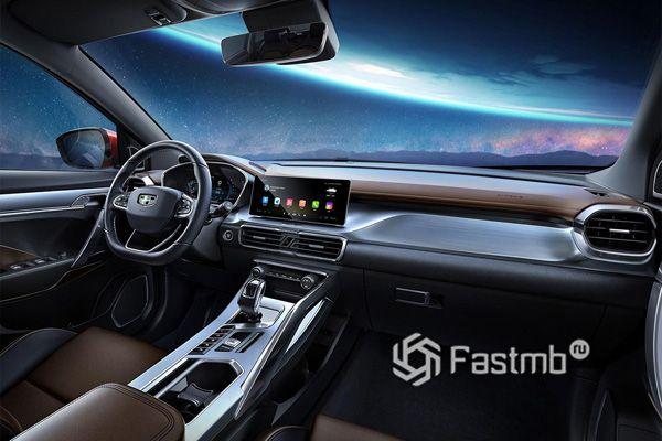 Новый интерьера Geely SX11 2019