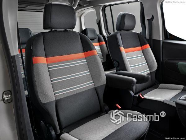 Citroen Berlingo 2019, сидения