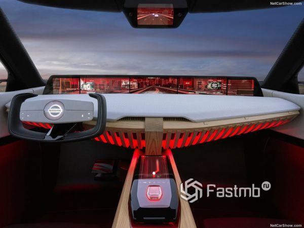 Nissan Xmotion Concept 2018, руль и панель управления