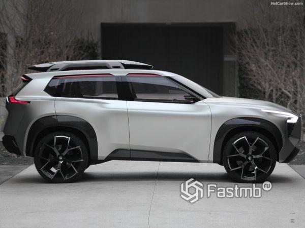 Nissan Xmotion Concept 2018, вид сбоку справа