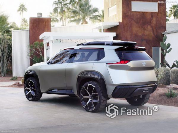 Nissan Xmotion Concept 2018, вид сзади и сбоку слева