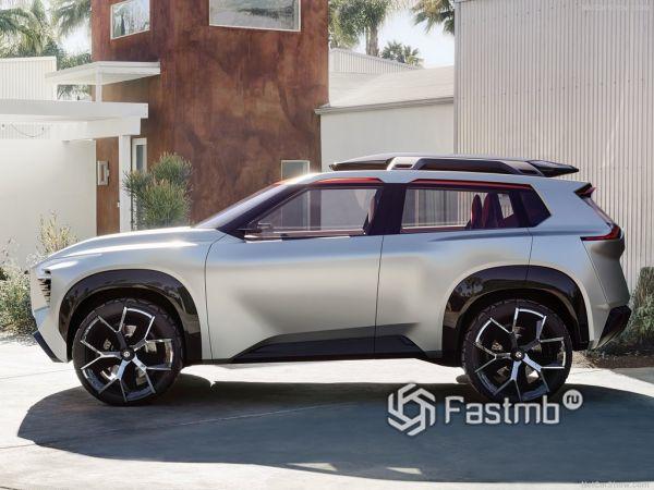 Экстерьер Nissan Xmotion Concept, вид сбоку слева
