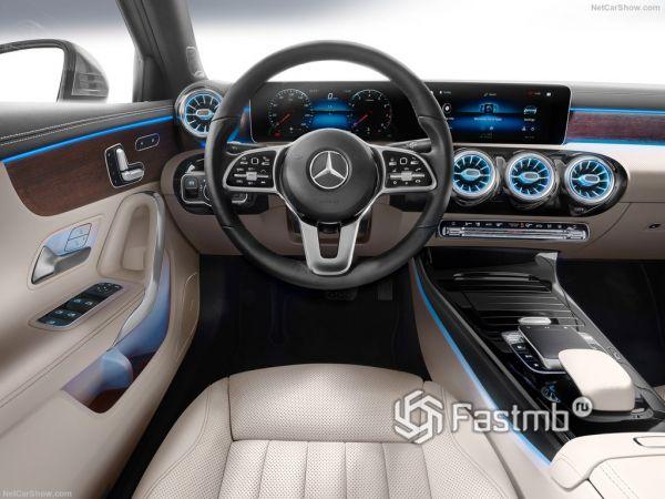 Mercedes-Benz A-Class Sedan 2019, руль и панель управления