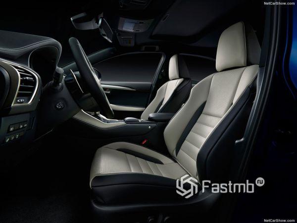Lexus NX 2018, передние сидения