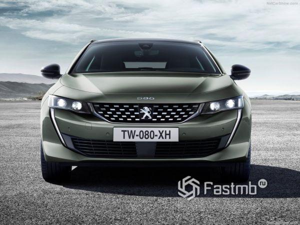 Peugeot 508 SW 2019, вид спереди