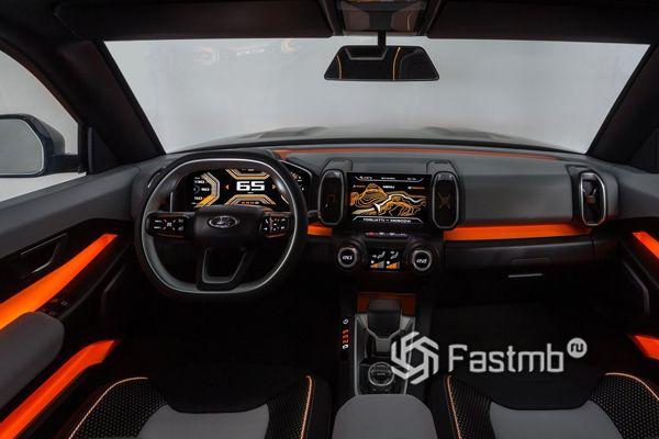 Интерьер концепта Lada Vision 2018