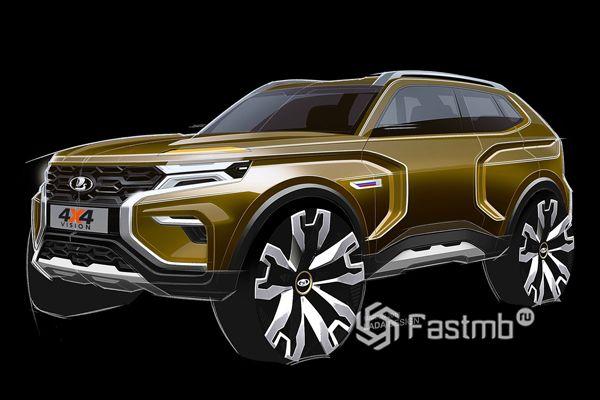 Эскиз нового концепта Lada Vision